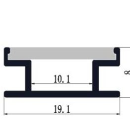 Profil en aluminium encastrable au sol 1908 - 1 mètre