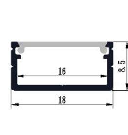 Aluminium profiel 1808 - 1 Meter