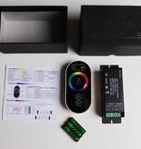Controllore RGB con telecomando con Touch-Wheel - Nero. - 6 Key