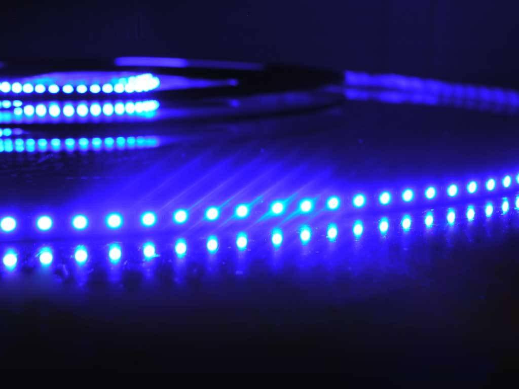 Blau 120 LED / m Komplett