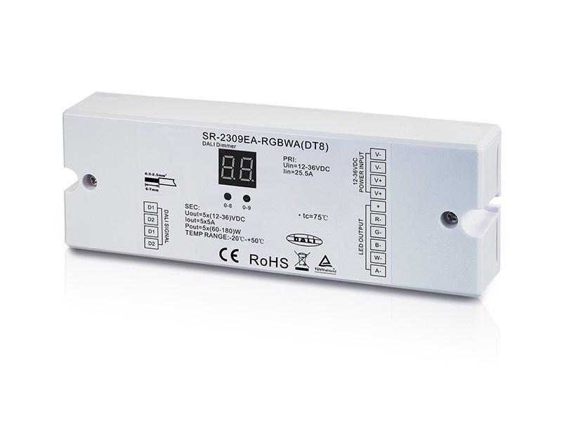 DALI DT8 RGBWA LED Strip Controller SR-2309EA-RGBWA
