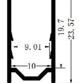 Perfil de aluminio 10x20 para Neon RGBW - 1 Metro