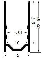 Aluminium profile 10x20 for RGBW Neon - 1 Meter