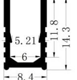 Profil en aluminium 6x12 pour Neon - 1 mètre