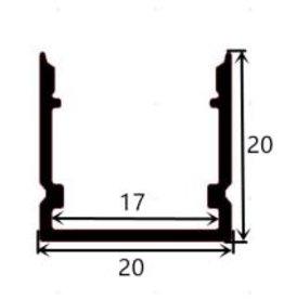 Aluminiumschiene 2020 - 1 Meter