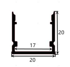 Aluminium profile 2020 - 1 Meter