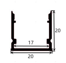 Profil en aluminium 2020 - 1 mètre