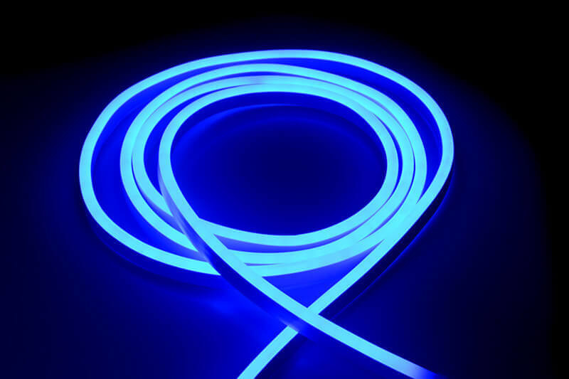 LED Neon Flex Blauw - 120 LED/m 2835 IP67 Waterdicht - per 50cm