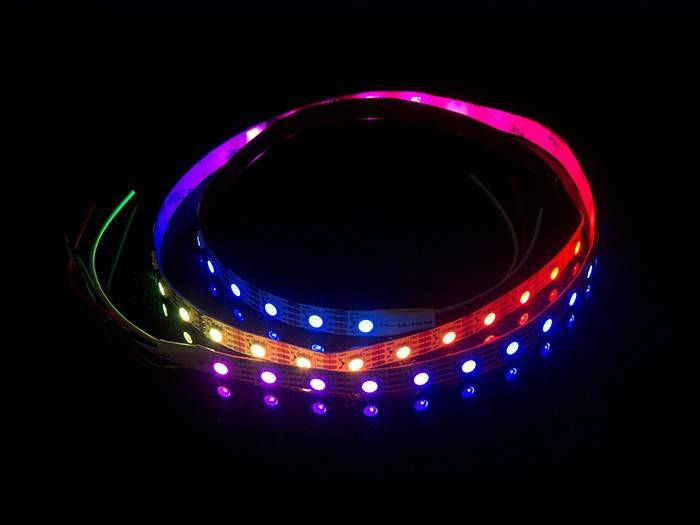Digital RGB 60 LED/m 10 pixel/m Flexible LED Strip - per 50cm