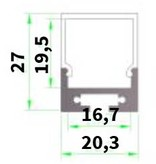 Profil en aluminium 1 mètre carré