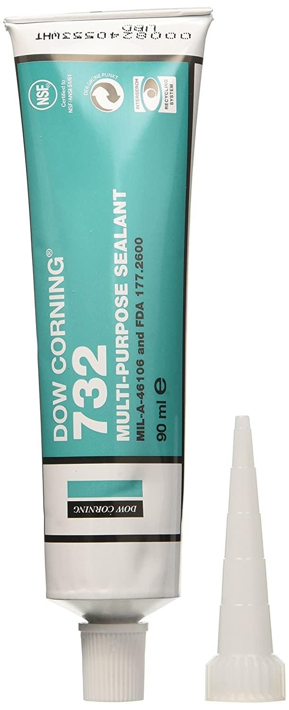 Dow Corning 732 Sellador de silicona RTV transparente Tubo de 90 ml