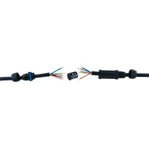 Conector de cable IP68 5 polos