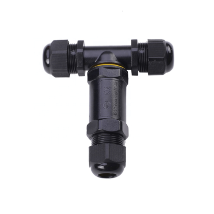 In-line Cable connector IP68 3-Pole T-Piece
