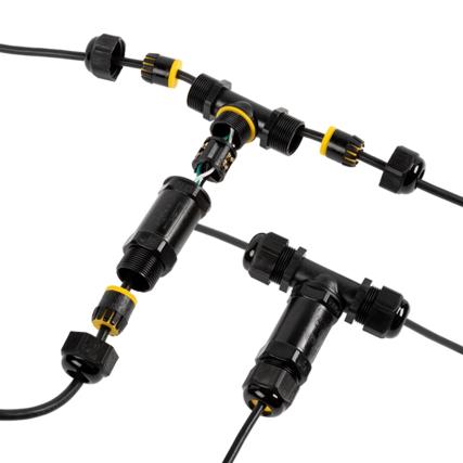 Kabelverbinder IP68 3-Polig T-Stuk