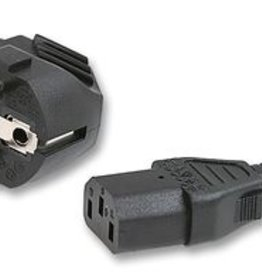 Power cord Euro Grounded Black