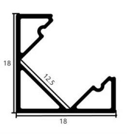 Perfil de aluminio de esquina 1818 - 1 Metro