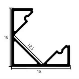 Corner Mount Aluminium profile 1818 - 1 Meter