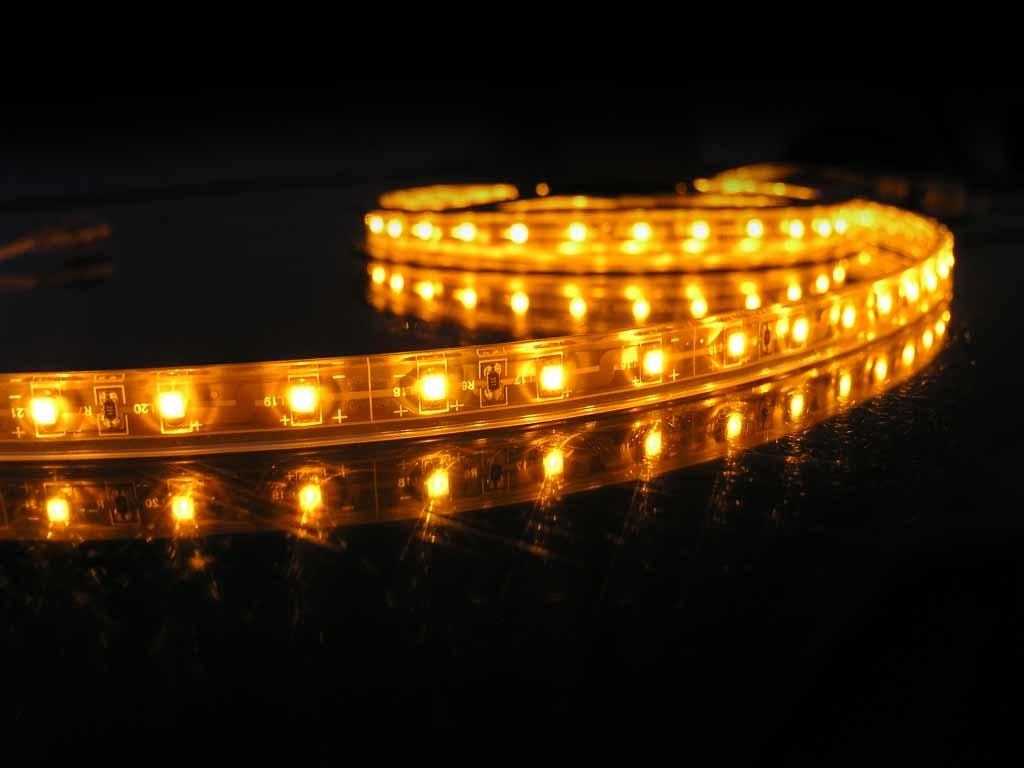 Striscia LED Giallo Impermeabile (IP68) - per 50cm