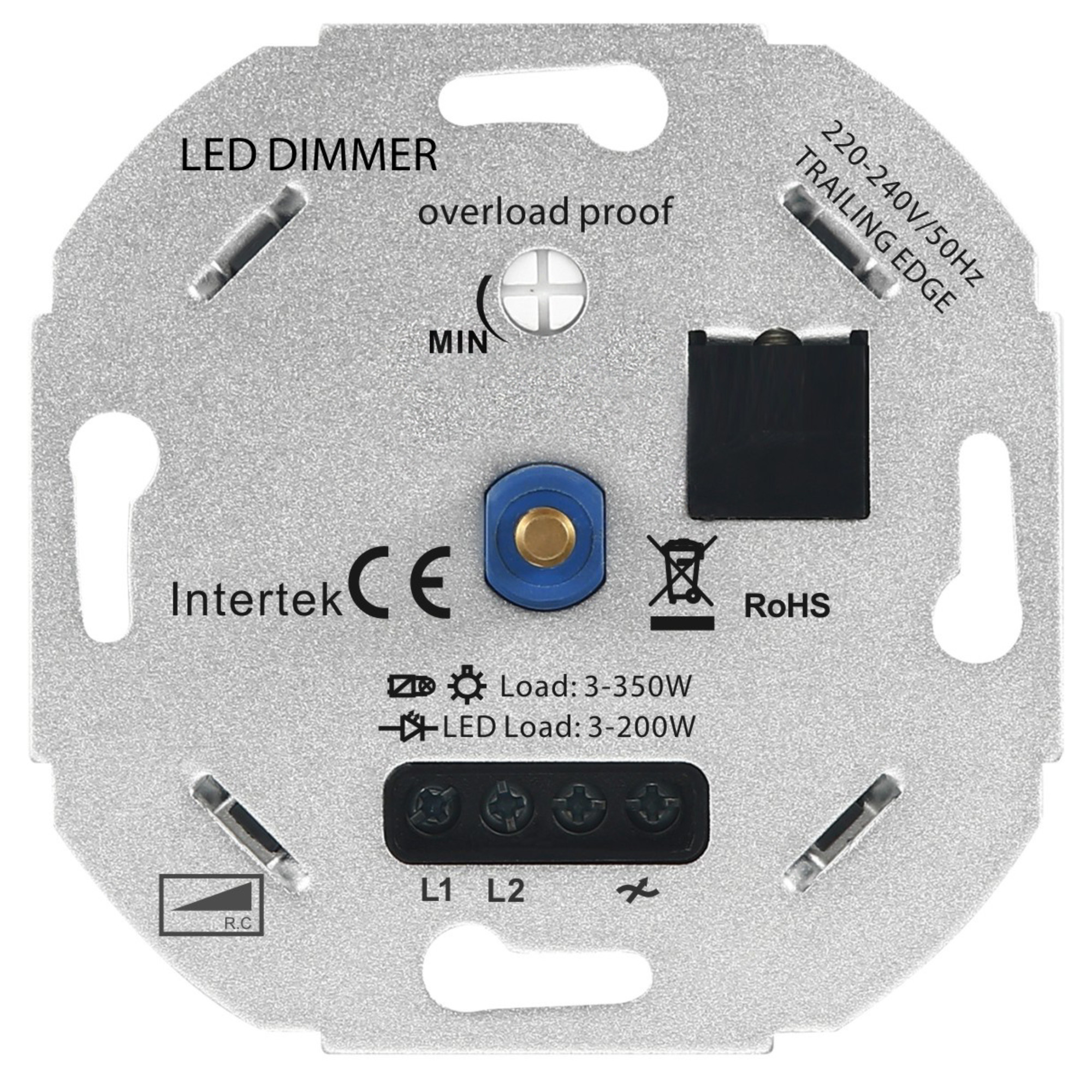 Dimmer LED 3-350W 220-240V - Taglio di fase