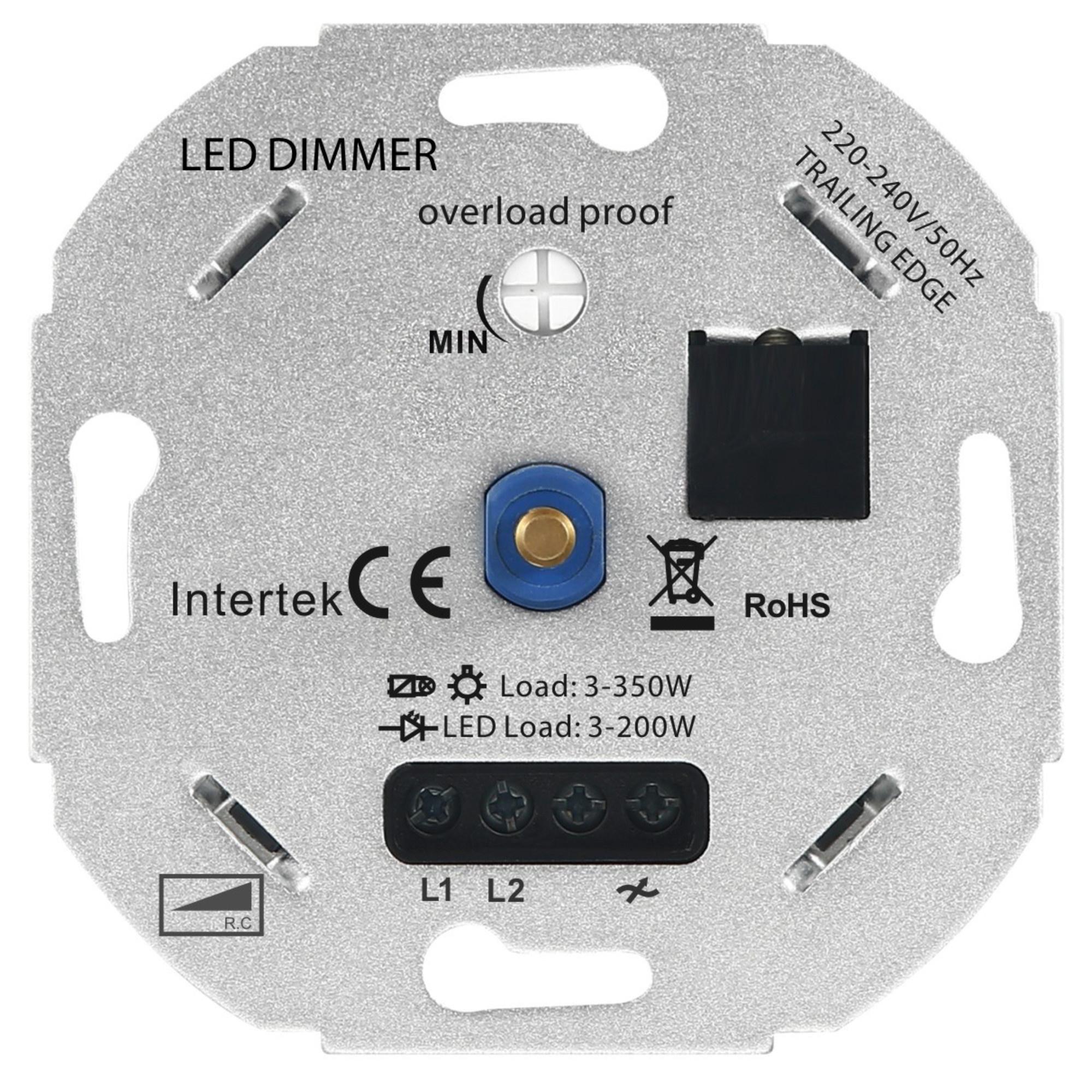 LED Dimmer 3-350W 220-240V - Fase Afsnijding
