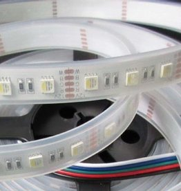 LED Strip RGB-WW 60 LED/m Single-Chip Flexible Waterproof (IP68) per 50cm
