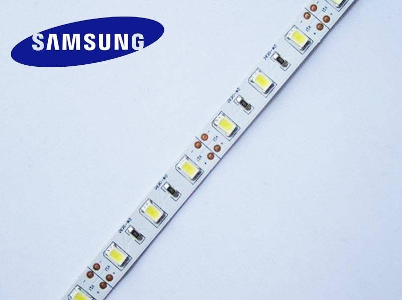 Striscia LED 5630 60 LED/m Bianco caldo - per 50cm