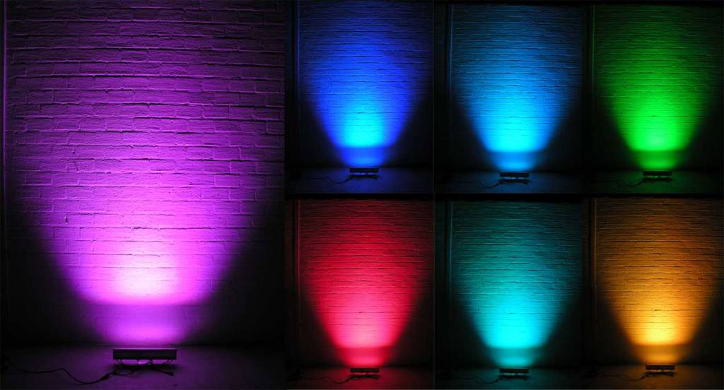 24V LED Wall Washer 12x1W RGB DMX