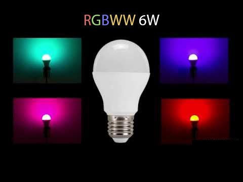 Ampoule LED RGBWW WiFi E27 230V 6 Watts