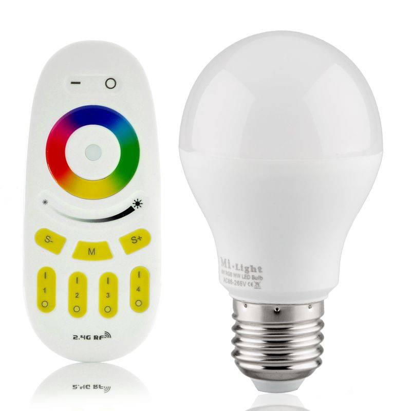 Lampadina LED RGB-WW WiFi E27 230V 6 Watt