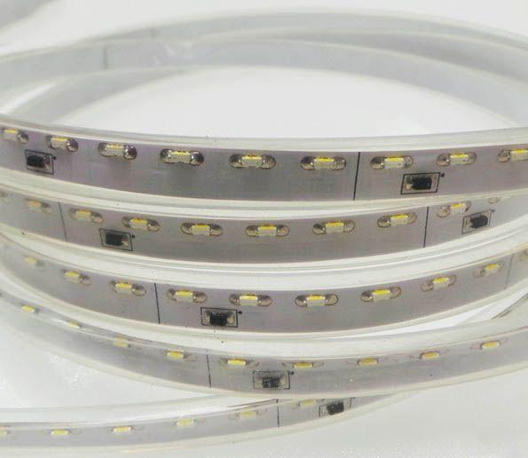 LED Streifen Wasserdicht 120 LED/m Weiss 335 Side View - pro 50cm