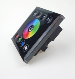 LED RGBW muurdimmer met touch-panel