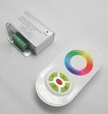 Controllore RGB con telecomando con Touch-Wheel - Bianco