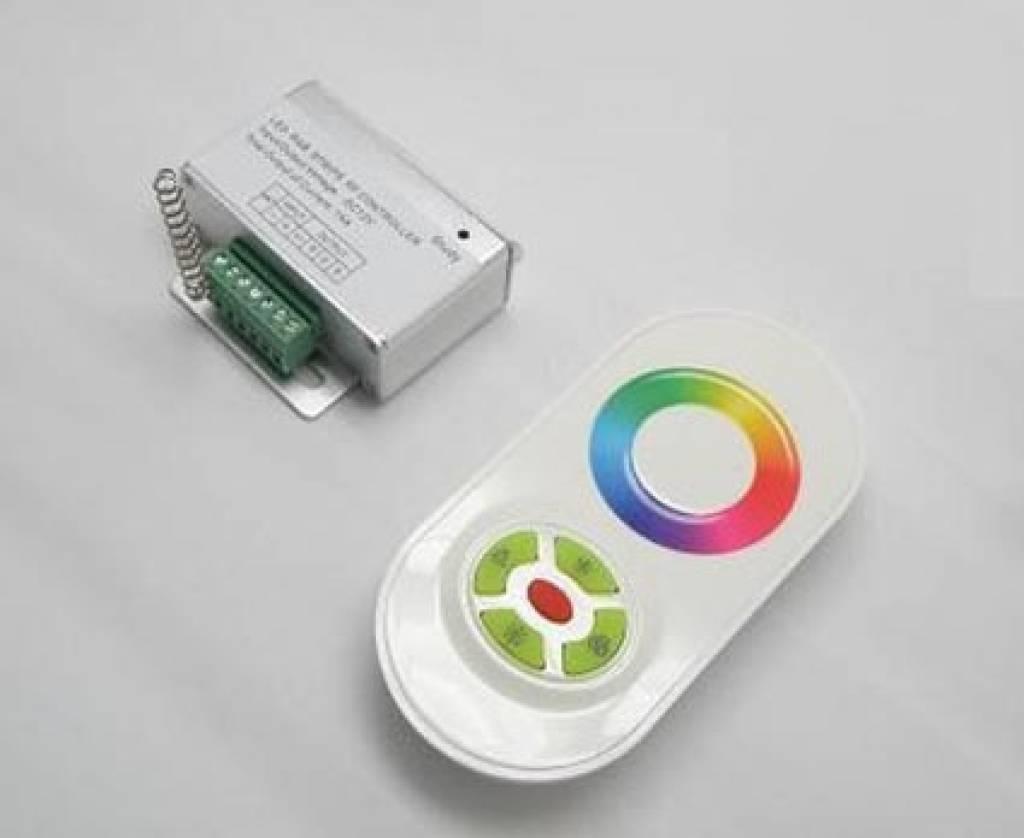 Controlador RGB con control remoto con rueda táctil - Negro