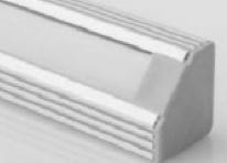 Profil en aluminium 1 mètre angulaire - 45 degrés