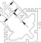 Profilo in alluminio angolare 1 Metro - 45 gradi
