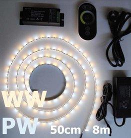 Weiß / Warm Weiß einstellbar LED Streifen Set