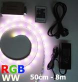 RGB-WW LED Streifen 60 LED/m Set