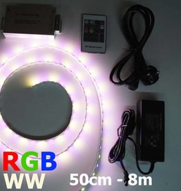Bande LED RVB-WW 60 LED/m Kit