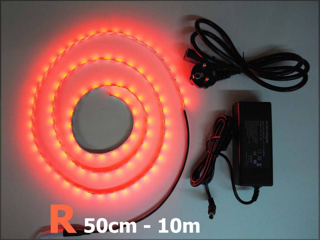 Bande LED Rouge 60 LED / m Kit
