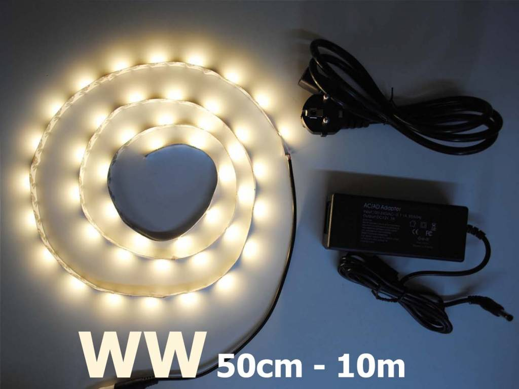 Bande LED Blanc Chaud 5630 30 LED / m Kit