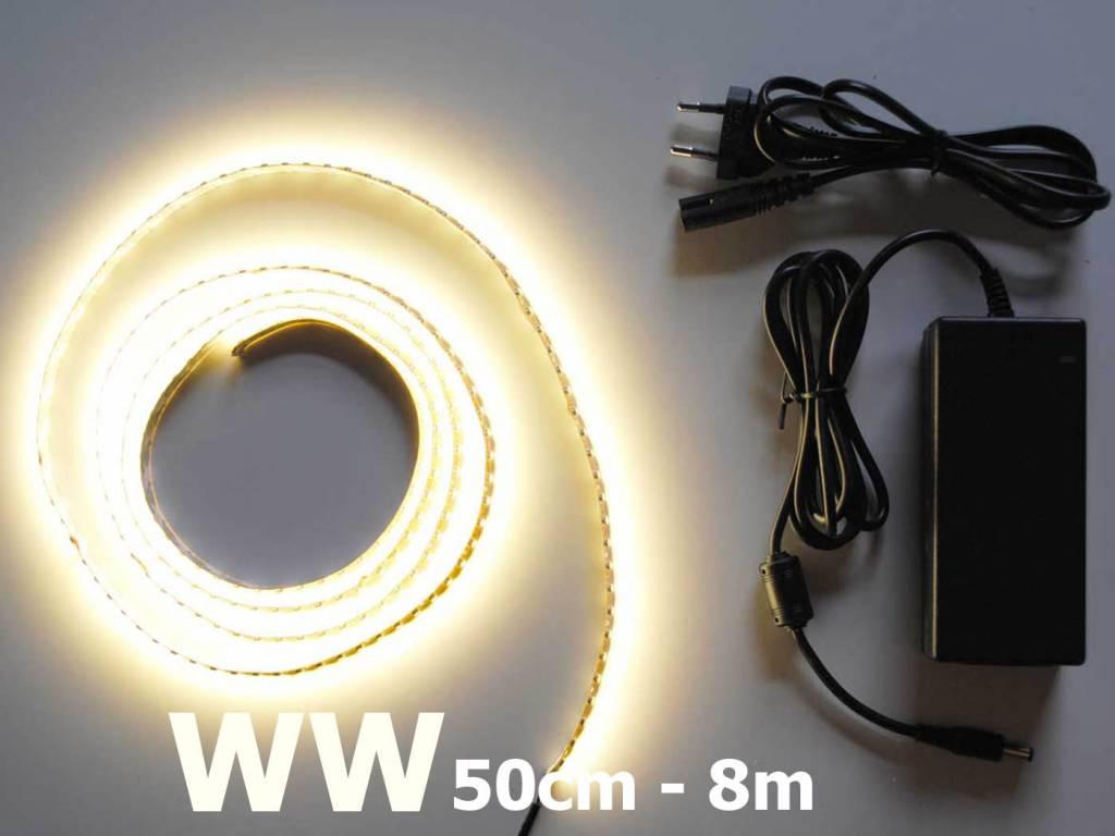 Bianco caldo 120 LED / m completo
