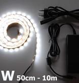 Weiß 60 LED / m Komplett