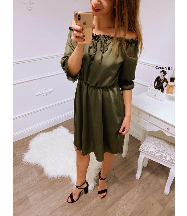 5c903dcf0e07c7 Silk Jurk Groen - Blush Fashionstore