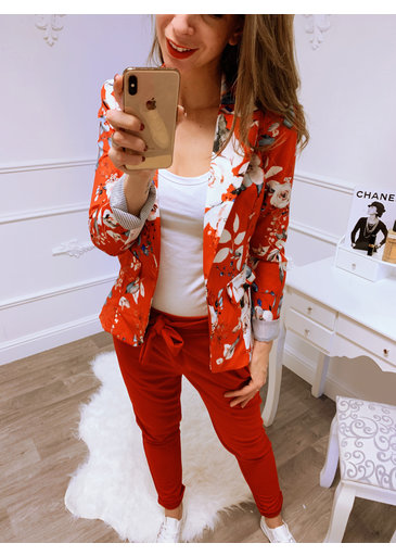 Flower Power Blazer Rood