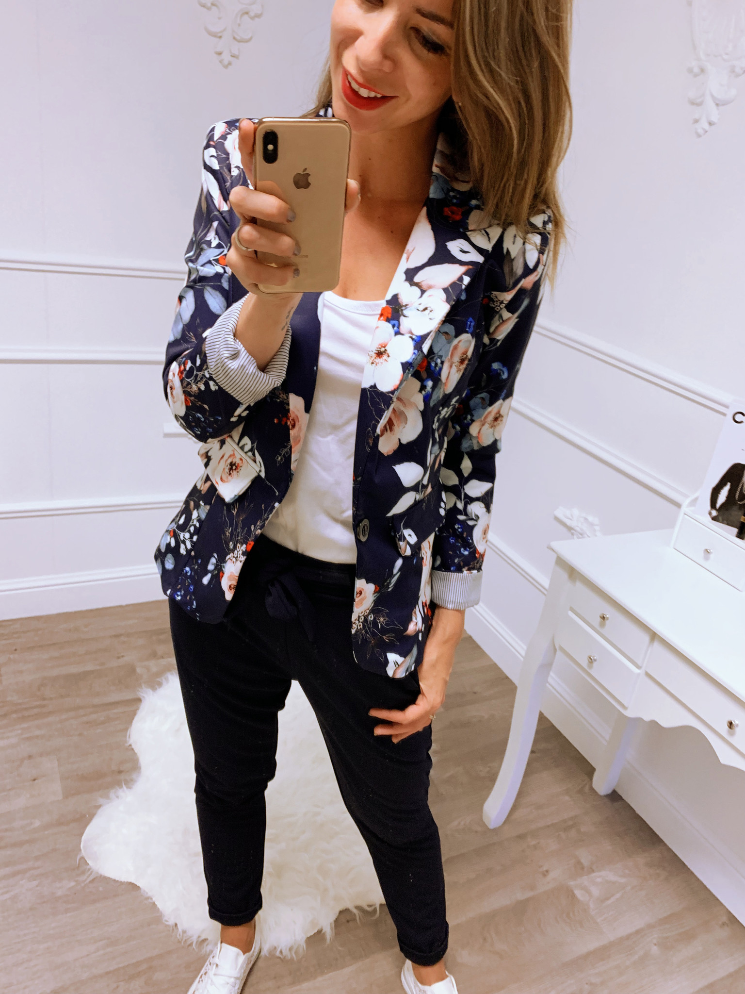 Flower Power Blazer Blauw