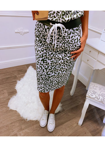 Leopard Rok Groen