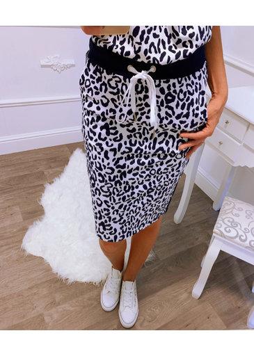 Leopard Rok Blauw