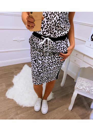 Leopard Rok Zwart