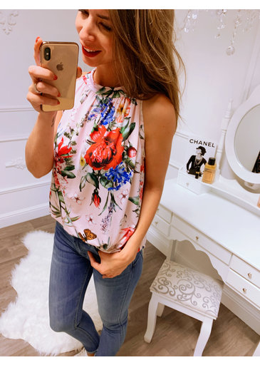 Flower Roze Strik Top