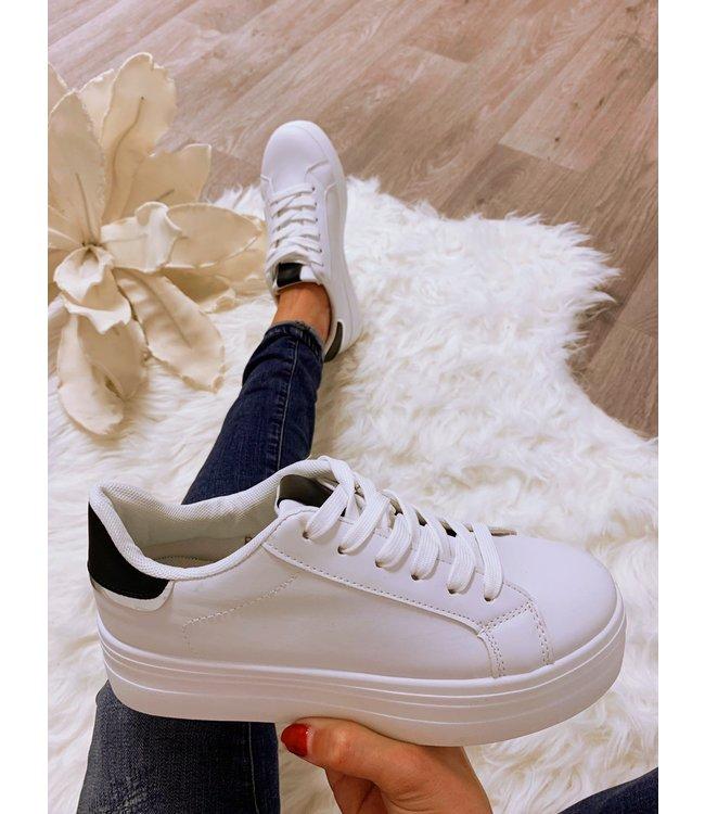 Sneakers Wit Zwart